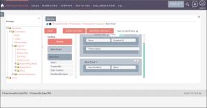 Screenshot of Module Layouts in SuiteCRM