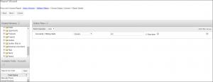 Screenshot of Choosing columns for report details in SugarCRM
