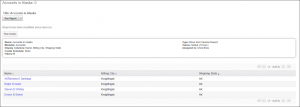 Screenshot of a report generated successfully in SugarCRM