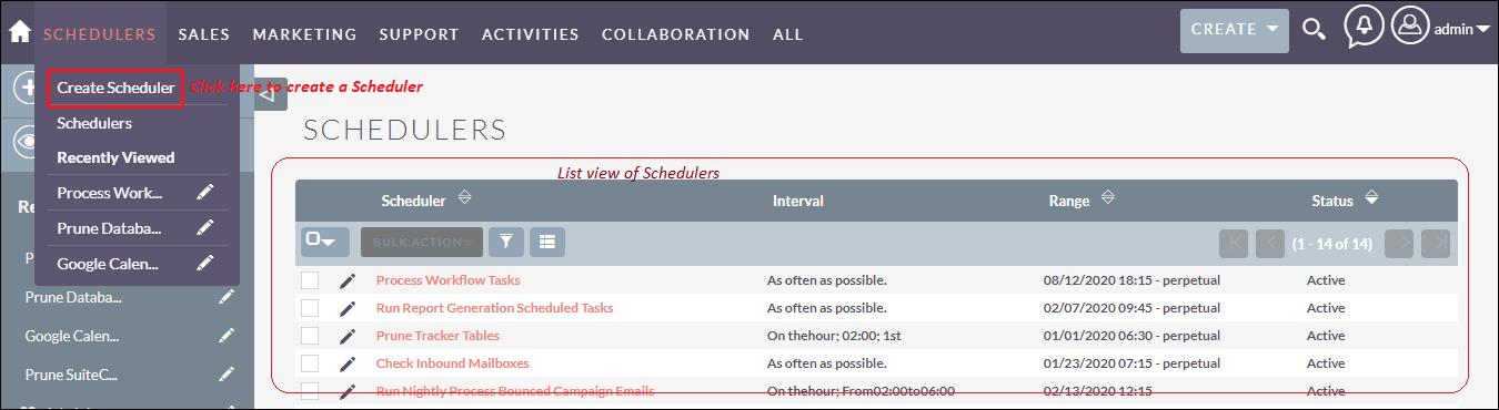 Creating a scheduler in SuiteCRM